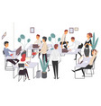 business people haracters working in office vector image