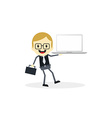 business presentation cartoon character vector image