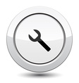 Button with Wrench vector image vector image