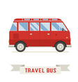 Cartoon Travel Bus Icon vector image vector image