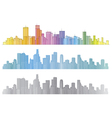 city colorful vector image