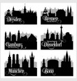 citys of germany - set detailed vector image