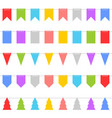 colorful shape of bunting set on white background vector image vector image