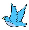 comic cartoon flying bird vector image vector image