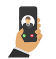 concept incoming call vector image vector image