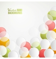 Confetti backdrop vector image vector image
