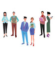 couples of office workers employees managers vector image vector image