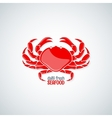 crab seafood menu background vector image vector image