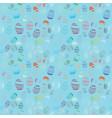decorative easter egg draw seamless pattern vector image vector image