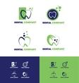 Dental dentist logo vector image vector image