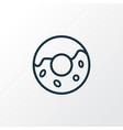 donut icon line symbol premium quality isolated vector image