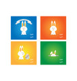 easter rabbit bunny on colorful background vector image vector image
