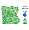 eco green composition egypt map vector image vector image
