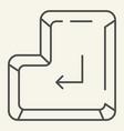 enter button thin line icon enter key vector image vector image