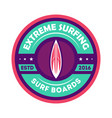 extreme surfing camp vintage isolated label vector image vector image