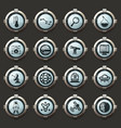 faculty of astronomy icons set vector image