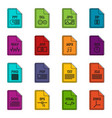 file format icons doodle set vector image vector image