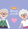 grandparents together with glasses and hairstyle vector image vector image