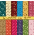 Hand Drawn Floral Seamless Pattern Set vector image vector image