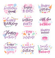 happy birthday quote anniversary text sign vector image
