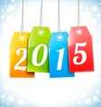 Happy New 2015 Year Greetings Card vector image vector image