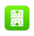 hockey ice field icon green vector image vector image