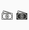 investments money icon simple pictograph vector image vector image