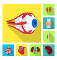 isolated object human and health icon set of vector image vector image