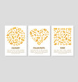 italian pasta culinary food card templates set vector image