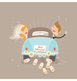 Just married car vector image vector image