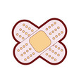 line color aid band adhesive in shape of cross vector image