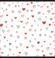 love heart seamless pattern valentines day vector image vector image