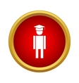 Male university student icon simple style vector image vector image