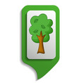 map sign tree icon cartoon style vector image vector image