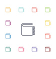 notepad flat icons set vector image