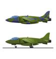 pursuit plane vector image vector image