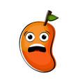 sad mango cartoon character emote vector image