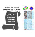 script roll icon with agriculture set vector image