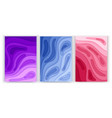 set banners a4 format with 3d abstract