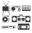 set black and white objects old home vector image