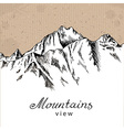 Snow Mountain Peak vector image vector image