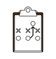 strategy clipboard vector image vector image