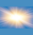 sun rays starburst bright effect isolated vector image vector image