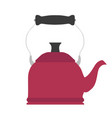tea kettle teapot kitchen design vector image