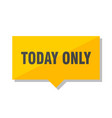 today only price tag vector image vector image