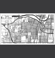 topeka kansas usa city map in retro style vector image