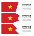 vietnam flag banners collection independence day vector image vector image