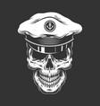 vintage sea captain skull vector image vector image