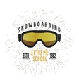 Vintage snowboarding or winter sports badge vector image vector image
