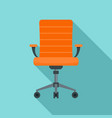wheel chair desk icon flat style vector image vector image